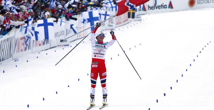 Норвежка Бьорген выиграла марафон наЧМ полыжным видам спорта