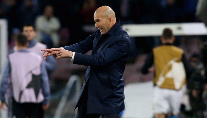 Зидан: Наполи сыграл превосходно впервом тайме, однако потом Реал был сильнее