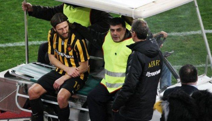Чигринский получил перелом руки вматче Кубка Греции