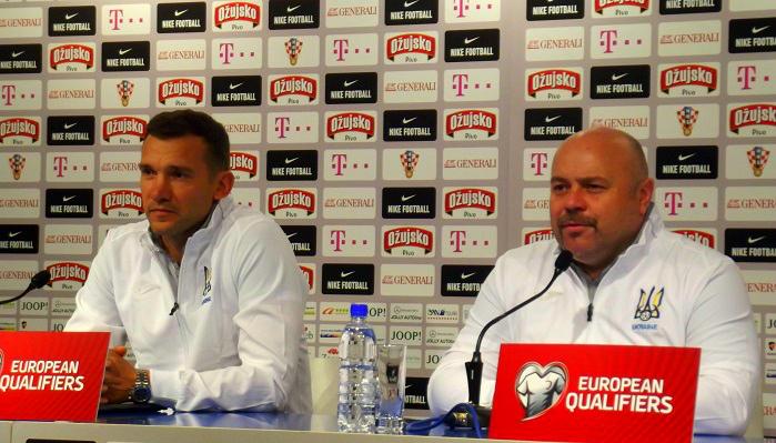 Шевченко накануне матча Хорватия-Украина: «Задача команды— сделать определенный прессинг»