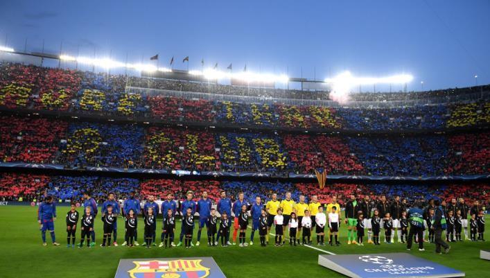В Барселоне фанаты освистали гимн Лиги чемпионов