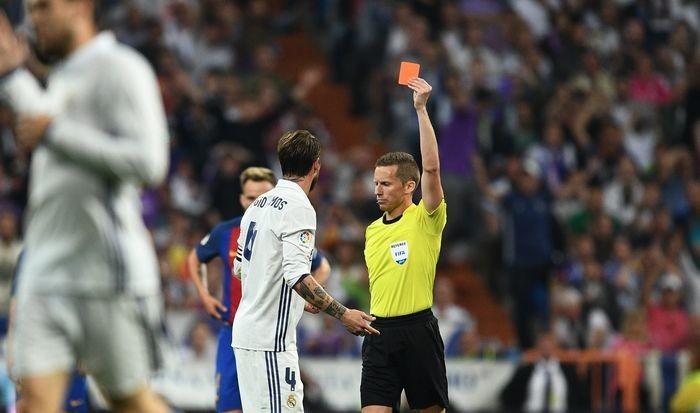 Рамос дисквалифицирован наодин матч заудаление вматче с«Барселоной»