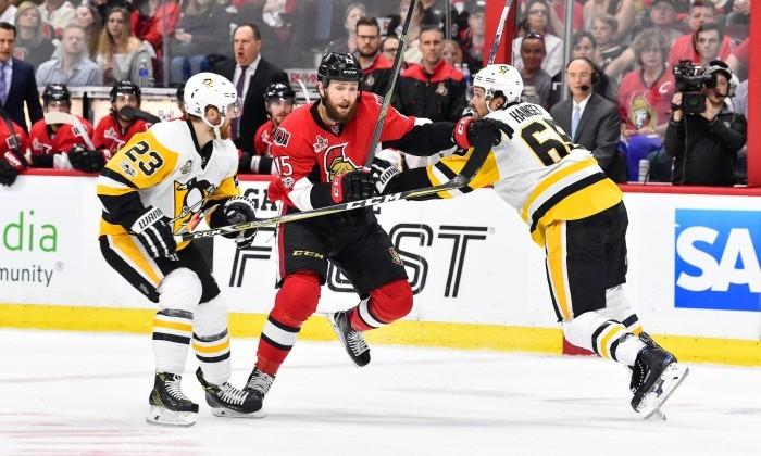 «Питтсбург» обыграл «Оттаву» исравнял счет вполуфинальной серии плей-офф НХЛ