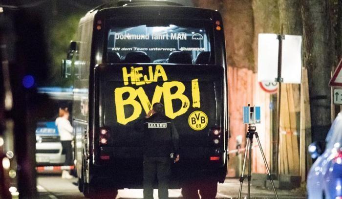 Германские следователи отыскали улики поделу овзрывах уавтобуса «Боруссии»