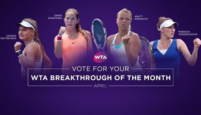 Россиянка Касаткина выиграла в категории WTA «Прорыв месяца»