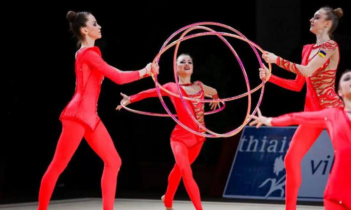 Украинские гимнастки стали серебристыми призерами этапа Кубка мира вБолгарии
