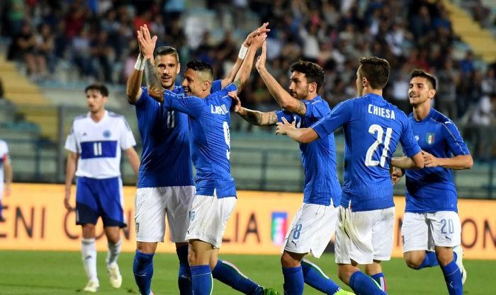Италия резервным составом разгромила Сан-Марино
