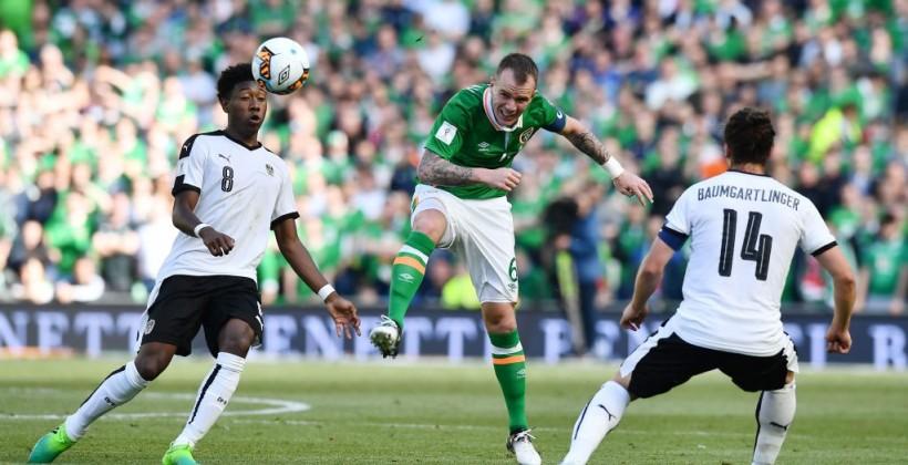 Ирландия в конце спасла игру с Австрией