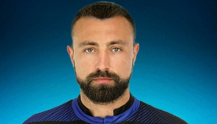 Игроки «Черноморца»: Сергей Политыло иАлексей Антонов