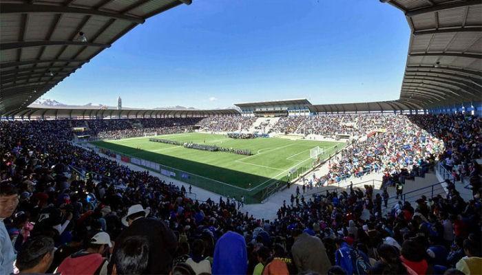 В Боливии построили второй самый высокогорный стадион в мире