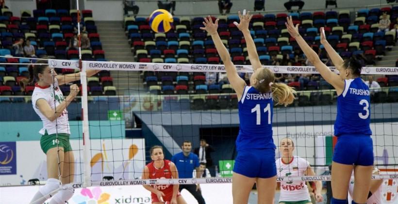 Наши волейболистки началиЧЕ спобеды над государством Украина