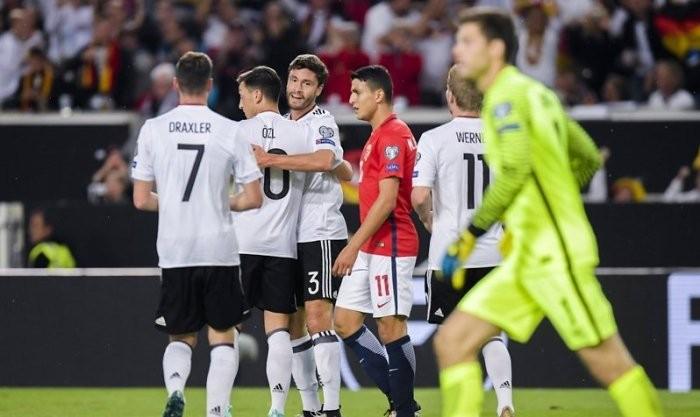 Германия отправила шесть мячей в ворота Норвегии