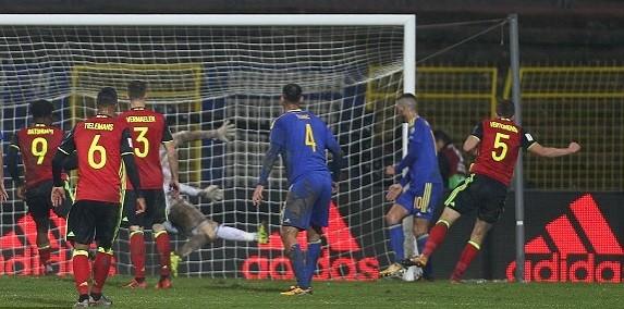 Бельгия в результативном матче победила Боснию