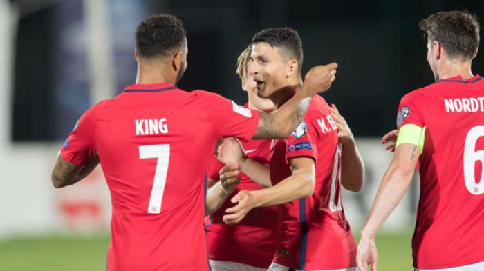 Норвегия отправила восемь мячей в ворота Сан-Марино