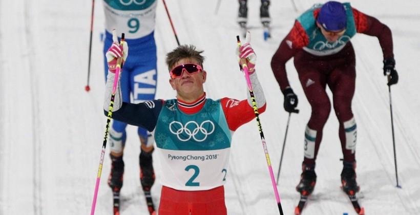 Норвегия выиграла мужскую эстафету на Олимпиаде