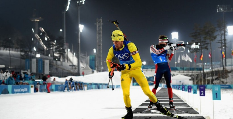 Швеция — олимпийские чемпионы в мужской эстафете, Украина — 9-я