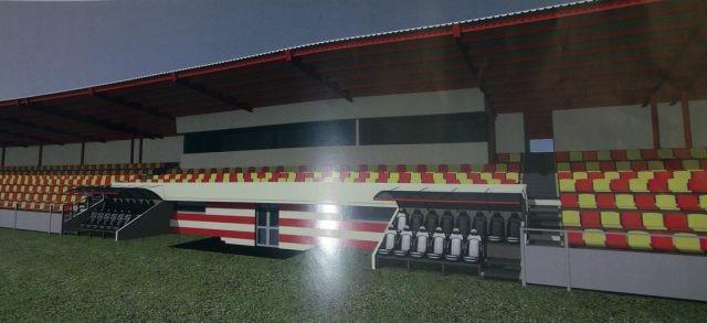 На стадионе Ингульца установили осветительные мачты. Арену готовят к играм УПЛ