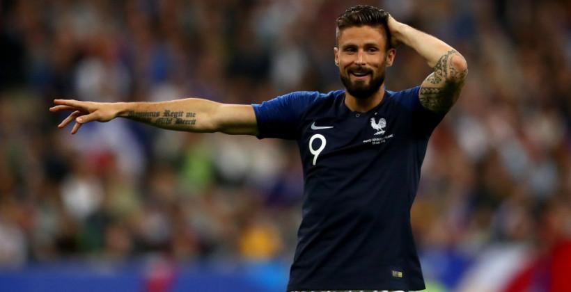 Жиру Франция футбол