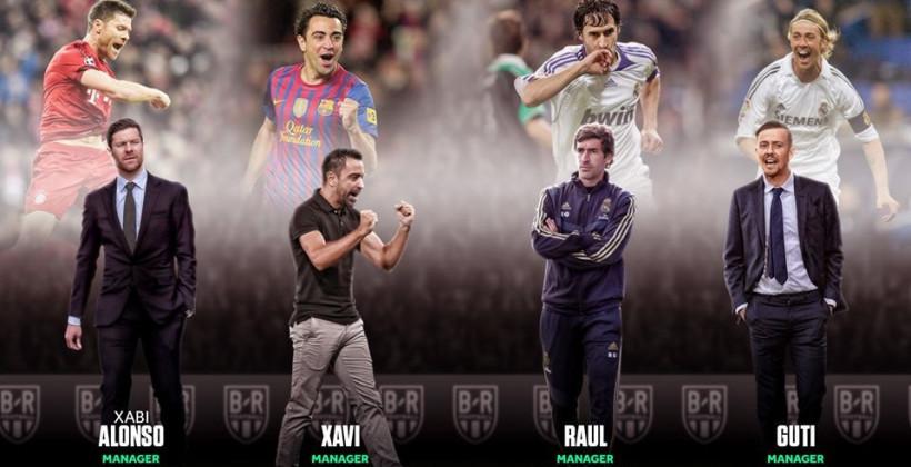 Алонсо, Хави, Рауль и Гути: вчера – игроки, сегодня – тренеры