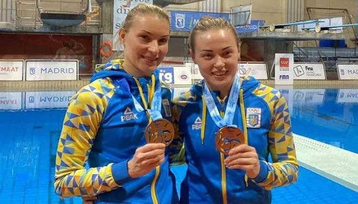 Прыгуньи в воду Федорова и Шелестюк выиграли бронзу на Гран-при FINA в Мадриде