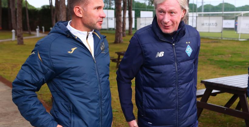 Тренерский штаб сборной Украины посетил сбор Динамо в Турции