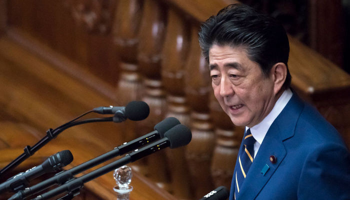 Япония Премьер министр Синдзо Абе