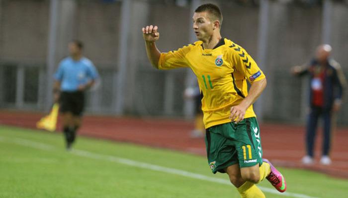 Львов подпишет полузащитника сборной Литвы Казлаускаса