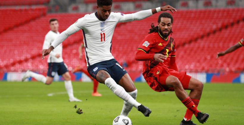 Англия в волевом стиле обыграла Бельгию на своем поле