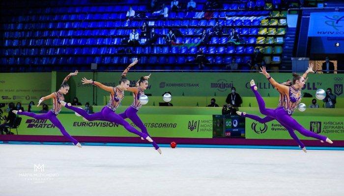 Сборная Украины выиграла золотую и бронзовую медали на чемпионате Европы по художественной гимнастике