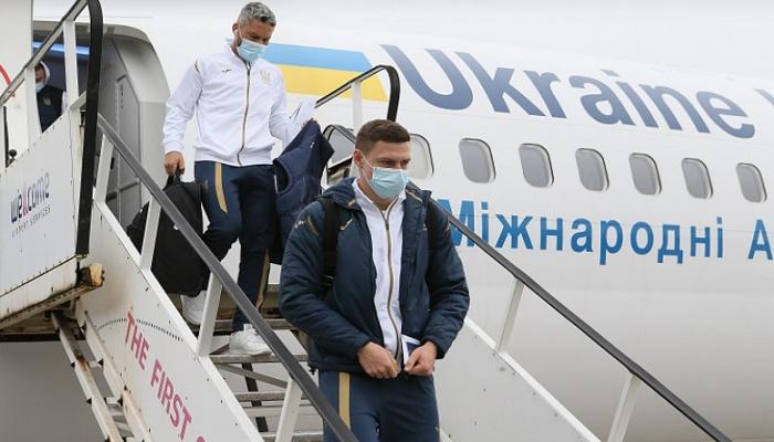 Сборная Украины сдала негативные тесты на коронавирус в аэропорте Борисполь