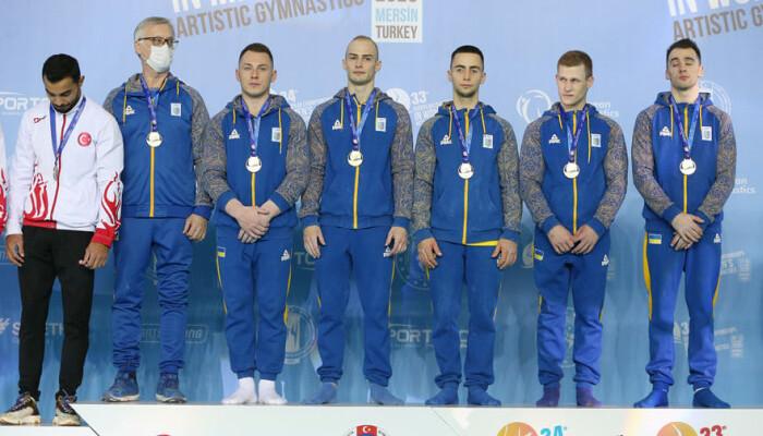 Мужская сборная Украины выиграла золото чемпионата Европы по спортивной гимнастике