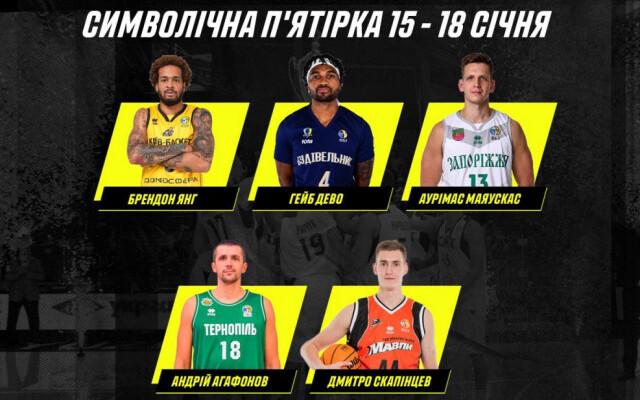 Центровий Тернополя Агафонов визнаний MVP 11-го туру Суперліги