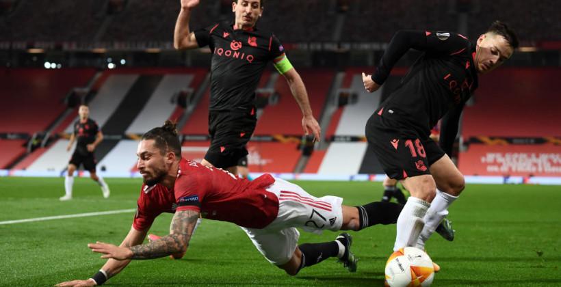 Манчестер Юнайтед сыграл вничью с Реалом Сосьедад и вышел в 1/8 финала Лиги Европы