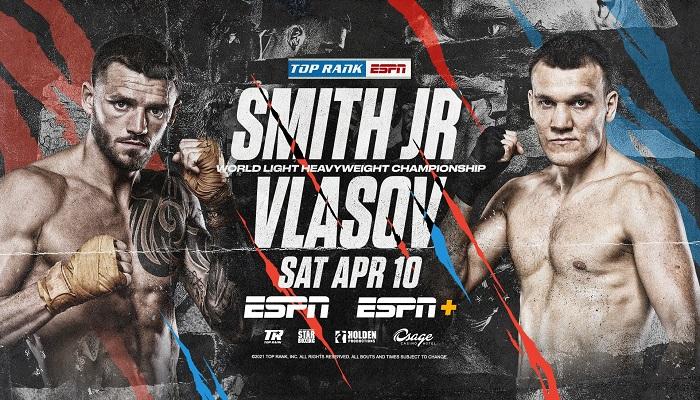 Бій за титул WBO між Смітом і Власовим офіціально призначений на 10 квітня
