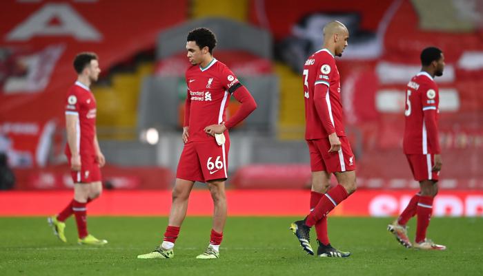 Ливерпуль впервые в истории проиграл пять домашних матчей подряд