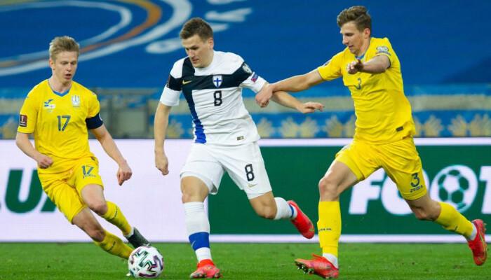 Украина упустила победу над Финляндией, пропустив в концовке встречи
