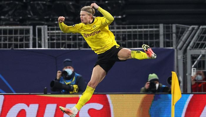 Холанд быстрее всех забил 20 голов в Лиге чемпионов
