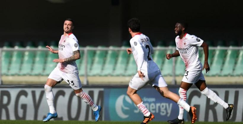 Милан уверенно обыграл Верону