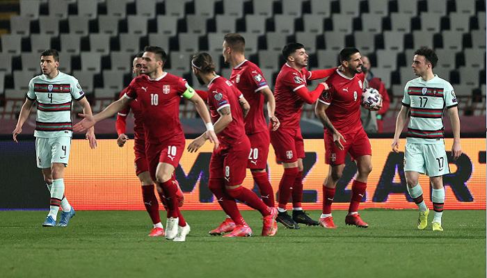 Португалия неожиданно сыграла вничью с Сербией в отборе на ЧМ-2022