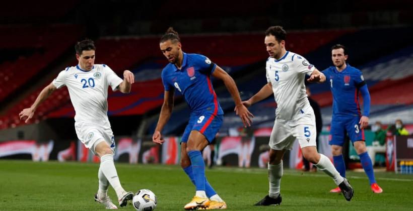 Англия разгромила Сан-Марино на старте отбора ЧМ-2022