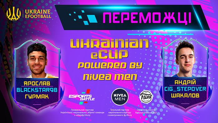 Визначено переможців кіберфутбольного турніру UKRAINIAN ECUP POWERED BY NIVEA MEN