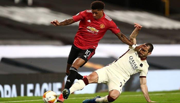 Манчестер Юнайтед разгромил Рому в полуфинале Лиги Европы в матче с восемью голами