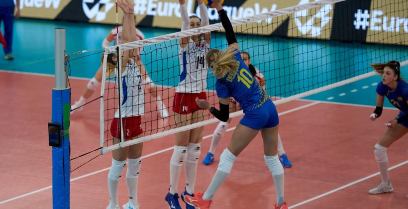Жіноча збірна України з волейболу здобула вольову перемогу над Словаччиною в Золотій Євролізі