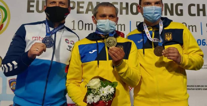 Украинец Омельчук выиграл золото чемпионата Европы по пулевой стрельбе