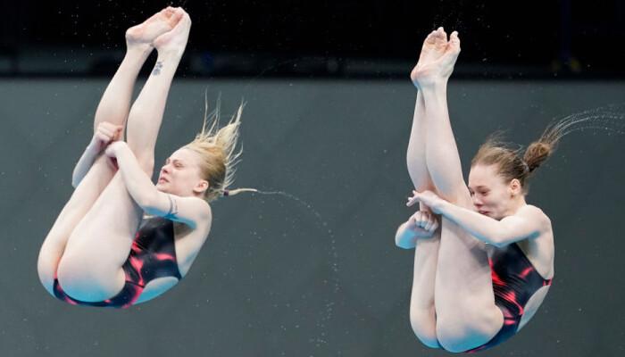Украинские прыгуньи в воду Байло и Лыскун завоевали бронзу на ЧЕ