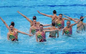 Сборная Украины по синхронному плаванию выиграла золото чемпионата Европы в хайлайте