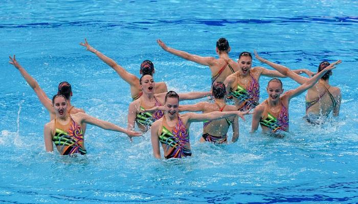Збірна України з синхронного плавання виграла золото чемпіонату Європи в хайлайті
