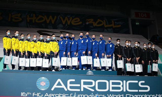 Збірна України виграла срібло чемпіонату світу зі спортивної аеробіки