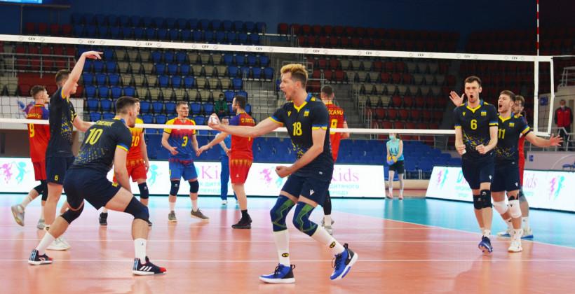Сборная Украины по волейболу победила Румынию на старте Золотой Евролиги