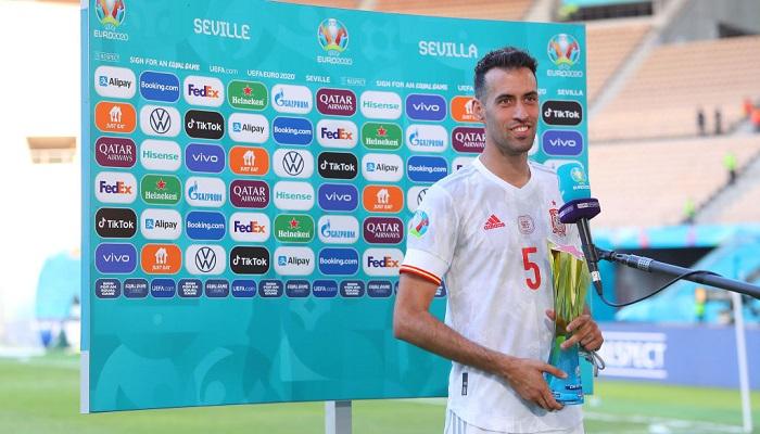 Бускетса назвали лучшим игроком матча Словакия — Испания